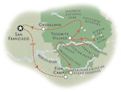 Yosemite California Map